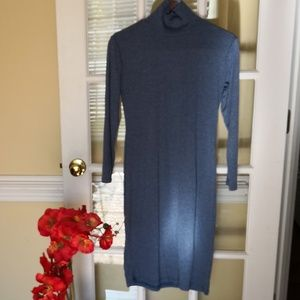 Dresses & Skirts - Blue gray knit dress home relaxing